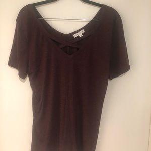 Nordstrom Socialite Brand Cross Front T Shirt NWOT